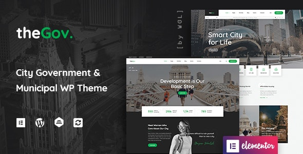 TheGov Nulled – Municipal and Government WordPress Theme