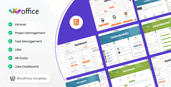 Woffice Nulled – Intranet/Extranet WordPress Theme